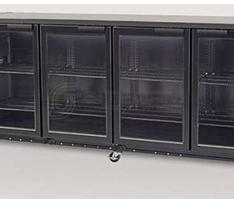 SKOPE  Backbar X BB780X 4 Glass Swing Door Fridge – Remote   Bar Displays