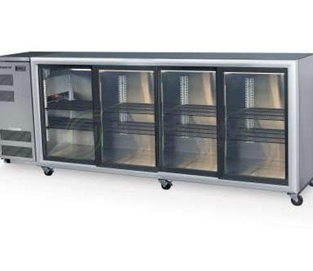SKOPE  Backbar BB780 4 Glass Sliding Door Fridge | Bar Displays