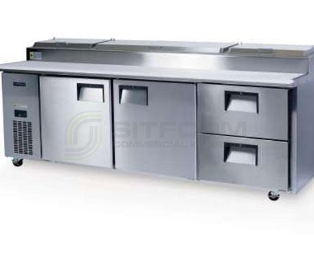 SKOPE  CENTAUR BC240-PS 2 Solid Door 2 Drawer Pizza & Sandwich Preparation Non-GN Fridge | Food Preparation