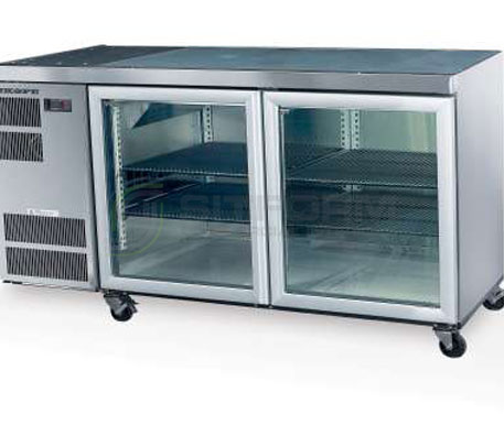 SKOPE  Counterline- Slim CC300 2 Glass or Solid Swing Door Fridge | Underbench Display Chillers