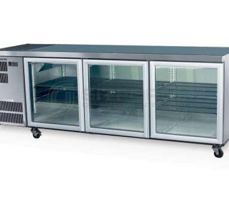 SKOPE  Counterline- Slim CC500 3 Glass or Solid Swing Door Fridge | Underbench Display Chillers