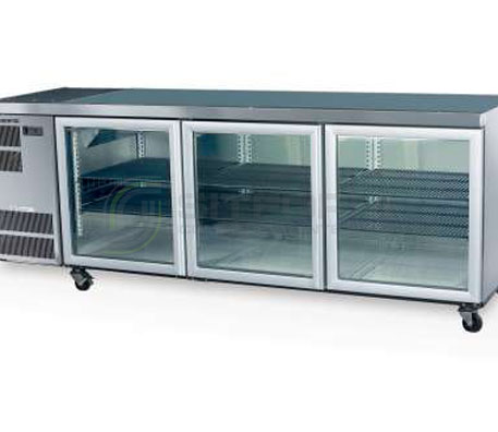 SKOPE  Counterline- Slim CC500 3 Glass or Solid Swing Door Fridge Remote | Underbench Display Chillers