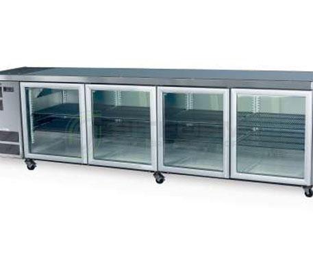 SKOPE  Counterline- Slim CC700 4 Glass or Solid Swing Door Fridge | Underbench Display Chillers