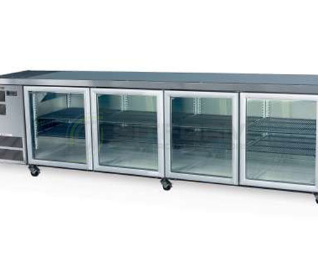 SKOPE  Counterline- Slim CC700 4 Glass or Solid Swing Door Fridge Remote | Underbench Display Chillers