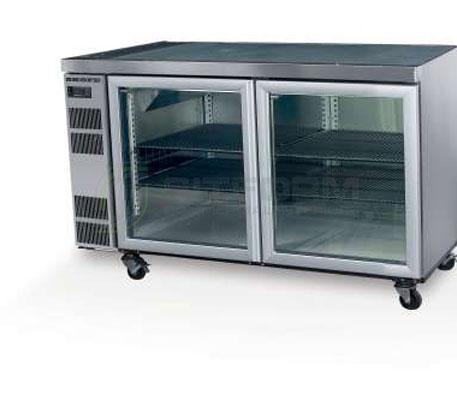 SKOPE  Counterline CL400 2 Glass or Solid Swing Door Fridge Remote | Underbench Display Chillers