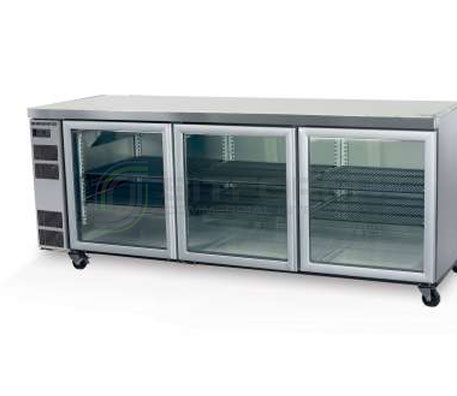 SKOPE  Counterline CL600 3 Glass or Solid Swing Door Fridge Remote | Underbench Display Chillers