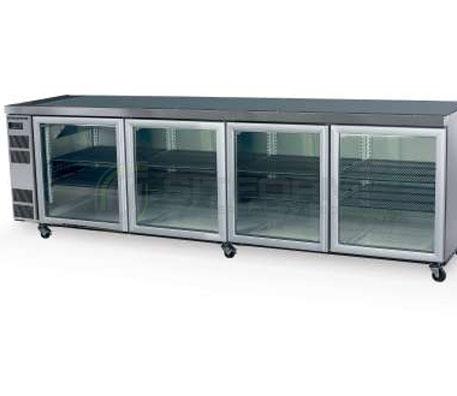 SKOPE  Counterline CL800 4 Glass or Solid Swing Door Fridge Remote | Underbench Display Chillers