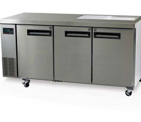 SKOPE  PEGASUS PG400 3 Solid Door 1/1 Preparation GN Fridge Remote | Food Preparation