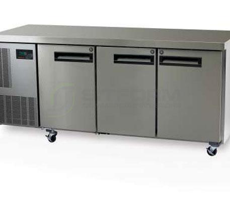SKOPE  PEGASUS PG400 3 Solid Door 1/1 Underbench GN Fridge | Underbench - Storage