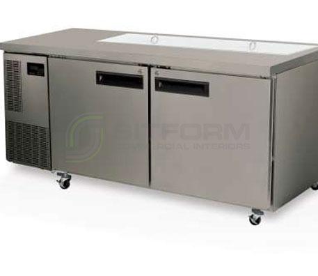 SKOPE  PEGASUS PG500 2 Solid Door 2/1 Preparation GN Fridge | Food Preparation
