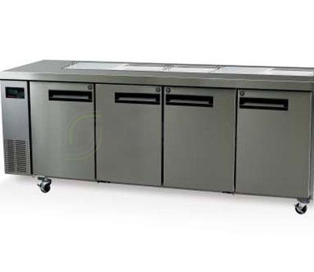 SKOPE  PEGASUS PG550 4 Solid Door 1/1 Preparation GN Fridge Remote | Food Preparation