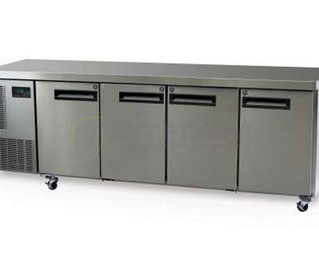 SKOPE  PEGASUS PG550 4 Solid Door 1/1 Underbench GN Fridge | Underbench - Storage