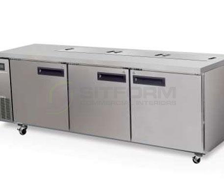 SKOPE  PEGASUS PG800 3 Solid Door 2/1 Preparation GN Fridge Remote | Food Preparation