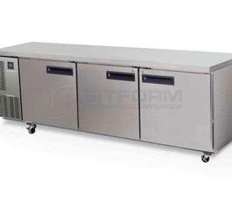 SKOPE  PEGASUS PG800 3 Solid Door 2/1 Underbench GN Fridge | Underbench - Storage