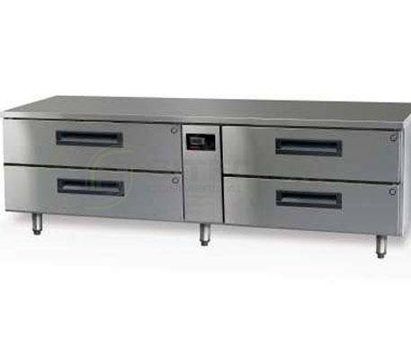 SKOPE  PEGASUS PGLL300 4 Drawer 1/1 & 2/1 Underbench GN Fridge Remote | Underbench - Storage