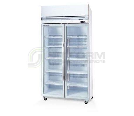 SKOPE  VF X VF1000X 2 Glass or Solid Door Top Mount Freezer | Upright Freezer & Ice Displays