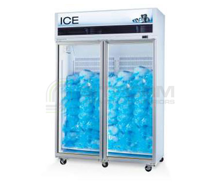 SKOPE  VF X VF1300X 2 Glass or Solid Door Top Mount Ice Freezer | Upright Freezer & Ice Displays