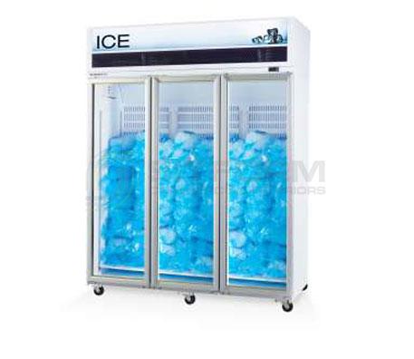 SKOPE  VF X VF1500X 3 Glass or Solid Door Top Mount Ice Freezer | Upright Freezer & Ice Displays
