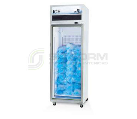 SKOPE  VF X VF650X 1 Glass or Solid Door Top Mount Ice Freezer | Upright Freezer & Ice Displays