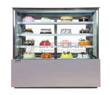 Austune – KG680V – Cake Display 2400mm Width | Floor Standing - Cold Displays