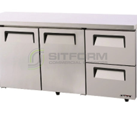 Austune KUR18-2D-2 – TURBO AIR Undercounter – 2 Drawers 1800mm Width | Underbench - Storage