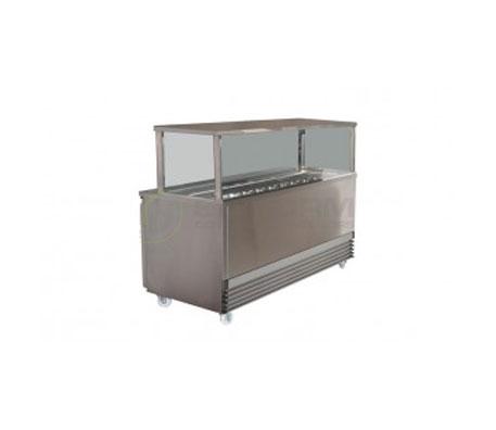 Koldtech SQSM.914 Square Gantry Sandwich Preparation Cabinet | Food Preparation