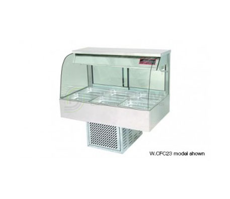 Woodson W.CFC23 – 3 Module Curved Glass Cold Food Display | Drop In - Cold Displays