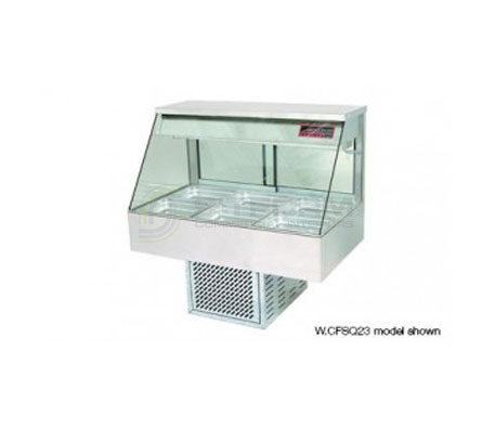 Woodson W.CFS23 – 3 Module Straight Glass Cold Food Display | Drop In - Cold Displays
