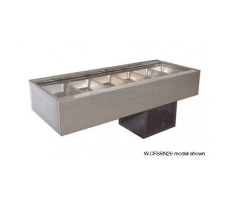 Woodson W.CFSSN25 – 5 Module Flat Deck Self Serve Cold Food Display | Drop In - Cold Displays
