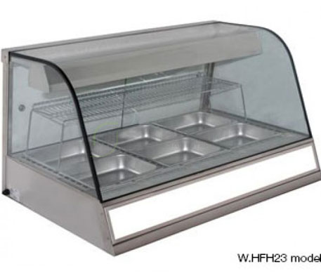 Woodson W.HFH.23 – 3Bay Heated Chicken Display | Hot Food Displays