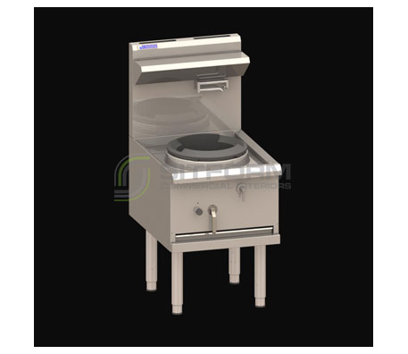 Luus Asian Series WX-1C – 1 Chimney Burner 330mm Compact Wok with air cooling & 1/4 turn water tap | Commercial Kitchen Equipment