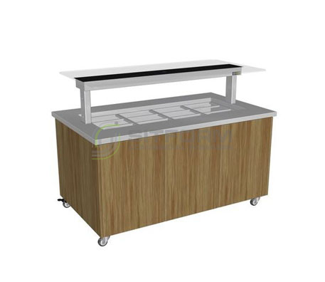 Culinaire CH.IBSJ.BMC.U.GSB Heated Island Buffet (Stainless Steel Top, Joinery Panels) | Island Buffet