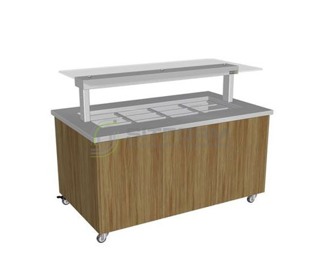 Culinaire CH.IBSJ.BMC.U.GSF Heated Island Buffet (Stainless Steel Top, Joinery Panel) | Island Buffet