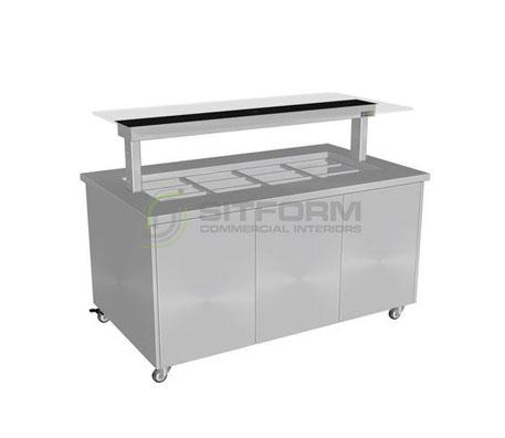 Culinaire CH.IBSS.BMC.U.GSB Heated Island Buffet (Stainless Steel Top, Stainless Steel Panels) | Island Buffet