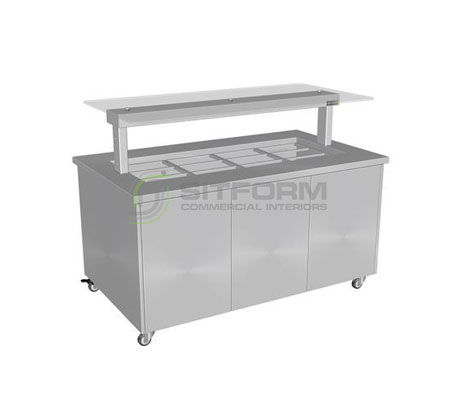 Culinaire CH.IBSS.BMC.U.GSF – Heated Mobile Island Buffet (Stainless Steel Top, Stainless Steel Panels) | Island Buffet