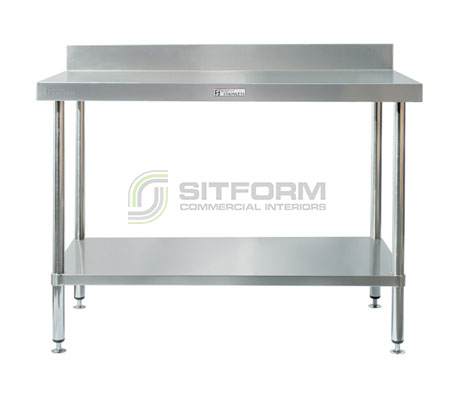Simply Stainless SS02.0300 Work Bench with Splashback | Benches