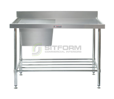 Simply Stainless SS05.1200.L Sink Bench with Splashback | Sink Benches