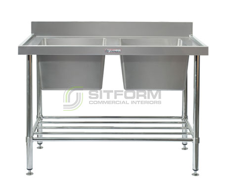 Simply Stainless SS06.1200 Double Sink Bench | Sink Benches