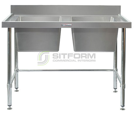 Simply Stainless SS06.1200 LB Double Sink Bench | Sink Benches