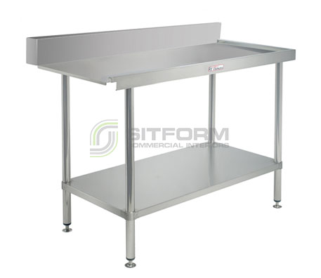 Simply Stainless SS07.1200L Dishwasher Outlet Bench   Sink Benches