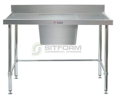 Simply Stainless SS05.7.1200.C LB Sink Bench with Splashback | Sink Benches