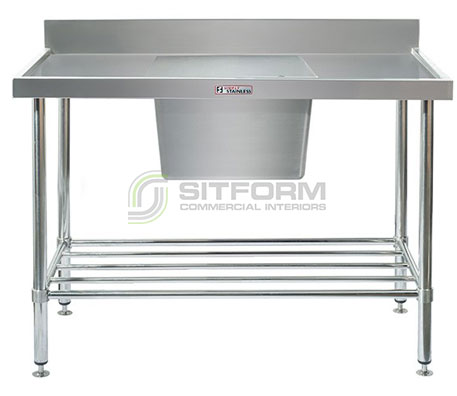 Simply Stainless SS05.7.1200.C Sink Bench with Splashback   Sink Benches
