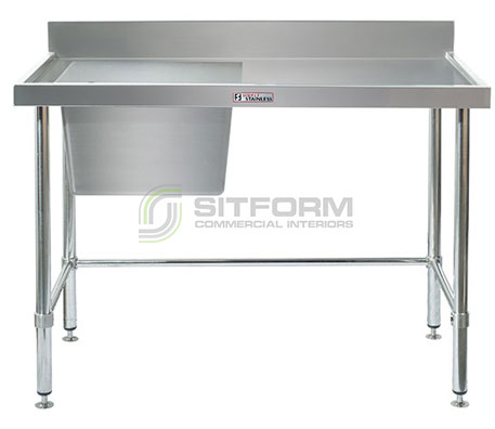 Simply Stainless SS05.7.1200.L LB Sink Bench with Splashback | Sink Benches