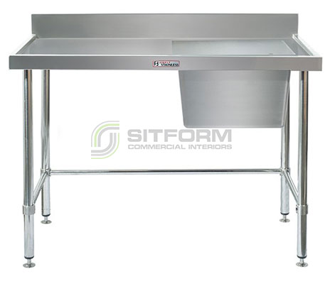 Simply Stainless SS05.7.1200.R LB  Sink Bench with Splashback | Sink Benches