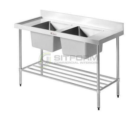Simply Stainless SS06.7.1200 Double Sink Bench | Sink Benches