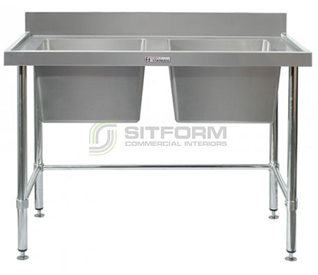 Simply Stainless SS06.7.1200 LB Double Sink Bench | Sink Benches