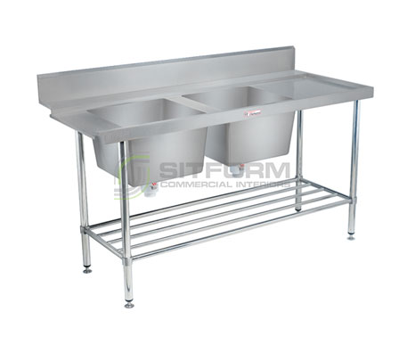 Simply Stainless SS09.7.1650.DBL  Double Sink Dishwasher Inlet Bench | Sink Benches