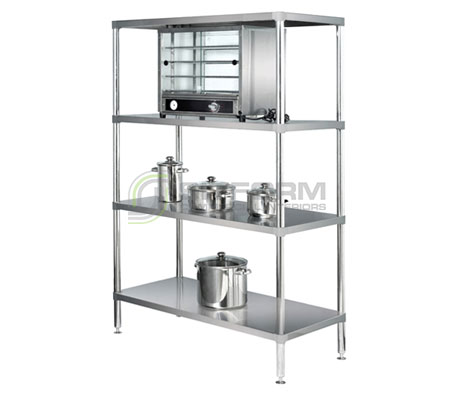 Simply Stainless SS17.0900SS Adjustable Stainless Steel 4 Tier Shelving | Shelves