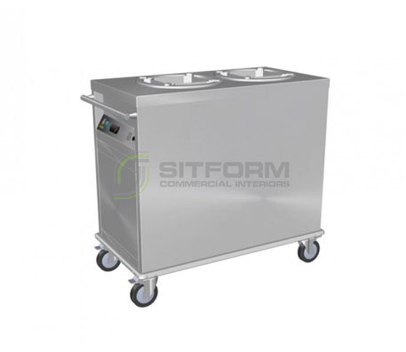 Culinaire CH.PD.HS.2 – Static Heating Mobile Plate Dispenser | Plate Dispensers | Restaurant & Kitchen Equipment