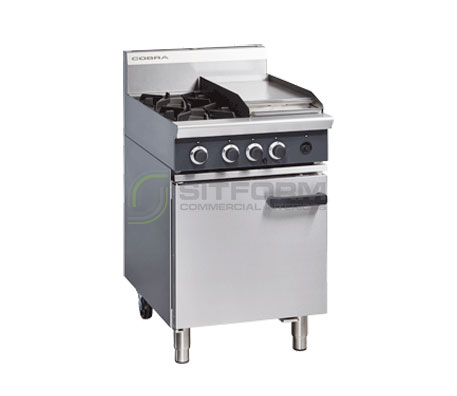 Cobra CR6C – 600mm Two Burner / Griddle Gas Range Static Oven | Ranges